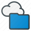 cloud, computing, folder, syncronize icon