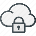 cloud, computing, lock icon
