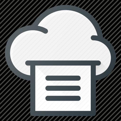 cloud, computing, print, printer icon