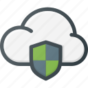 cloud, computing, protect, protection icon