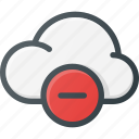 cloud, computing, minus, remove icon