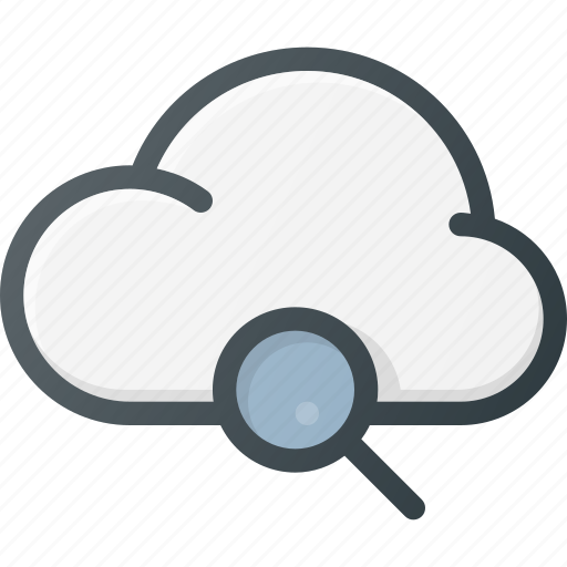 cloud, computing, search icon