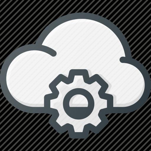 cloud, computing, settings, setup icon