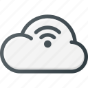 cloud, computing, stream, wireless icon
