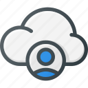 account, cloud, computing, user icon