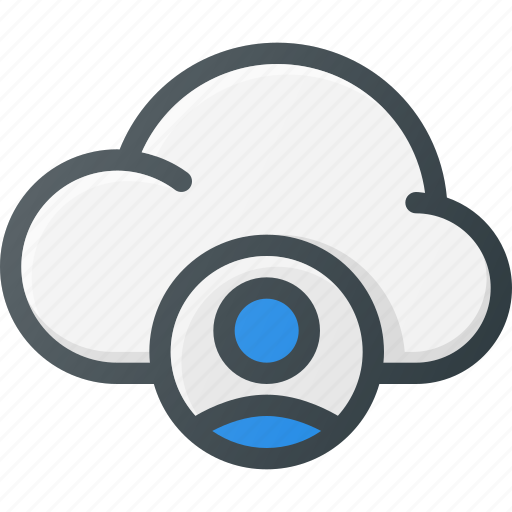 account, cloud, computing, user icon