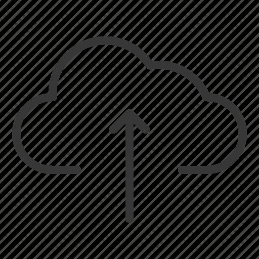 cloud, cloud computing, data, multimedia, storage, upload icon