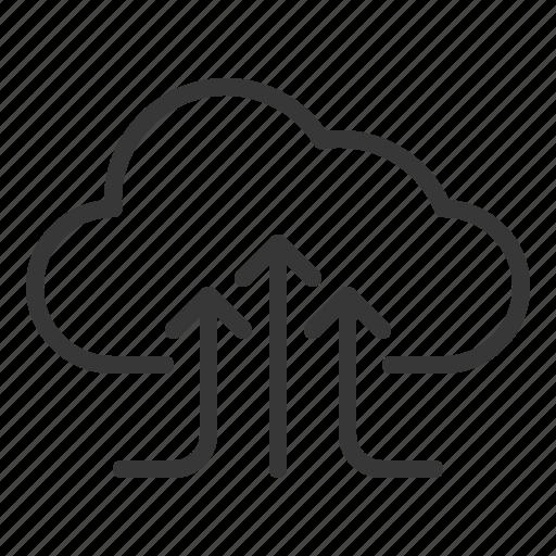 Cloud, cloud computing, cloud storage, data, gathering, storage icon - Download on Iconfinder