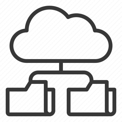 cloud, data, database, file, folder, server, storage icon