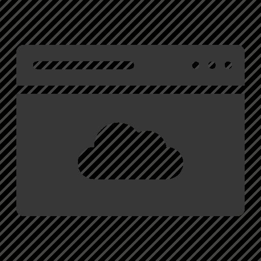 Cloud, interface, storage, window icon - Download on Iconfinder
