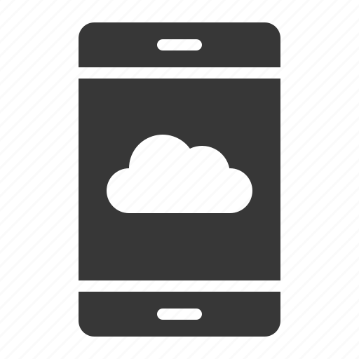 cloud, connection, mobile, network, smartphone, storage icon