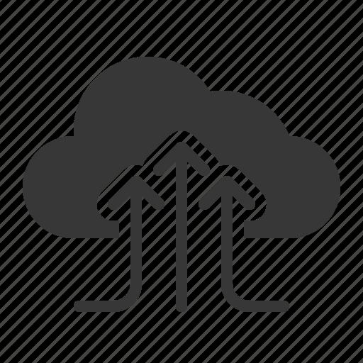 cloud, cloud computing, data, file, gathering, storage icon