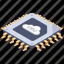 cloud computing, cloud cpu, cloud microprocessor, cloud storage, cloud technology icon
