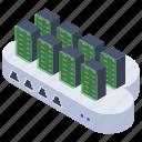 cloud computing, cloud hosting, cloud rack, cloud technology, database icon