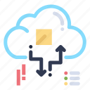 arrow, cloud, connect, network, share icon