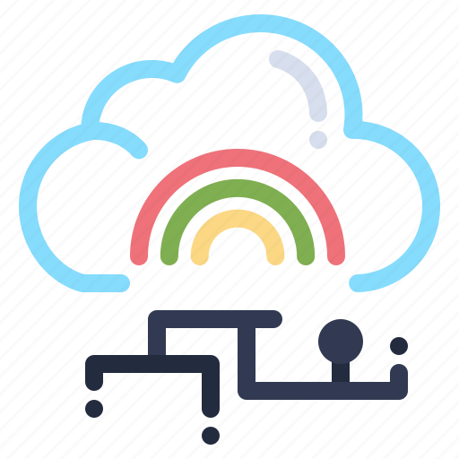 cloud, connect, data, link, network icon
