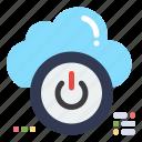 close, cloud, down, off, shutdown icon