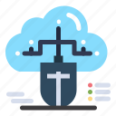 cloud, connected, data, mouse, online icon