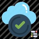 check, checklist, cloud, ok, tick icon