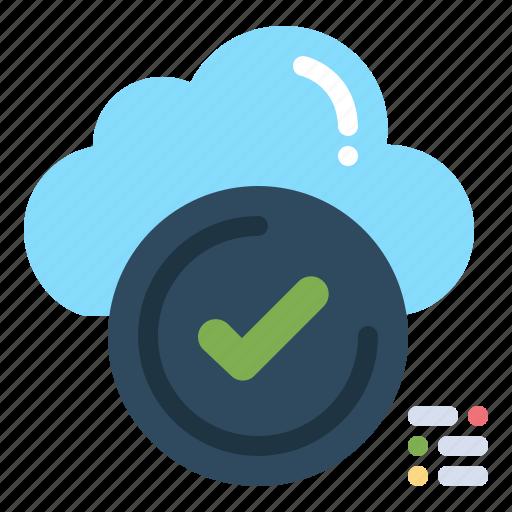 Check, checklist, cloud, ok, tick icon - Download on Iconfinder