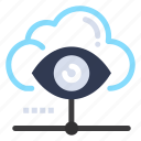 cloud, eye, share, view, vision icon
