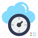 cloud, dashboard, time, timer icon