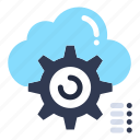 cloud, computing, configure, gear, setting icon