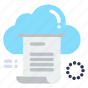 cloud, computing, document, file, share icon