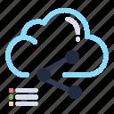 cloud, computing, data, link, share icon