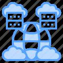 cloud, database, global, server, worldwide