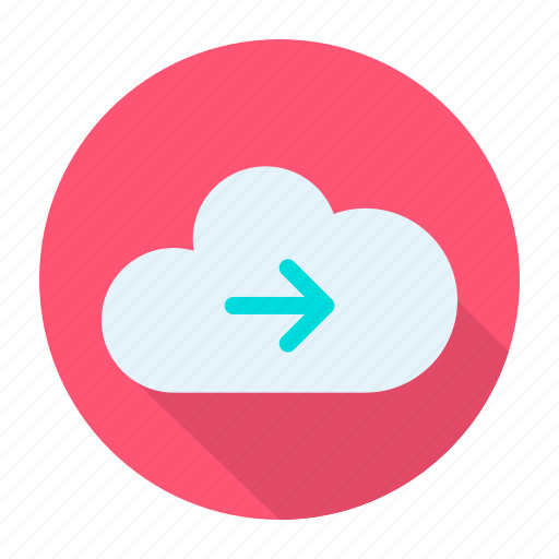 arrow, cloud, direction, right icon
