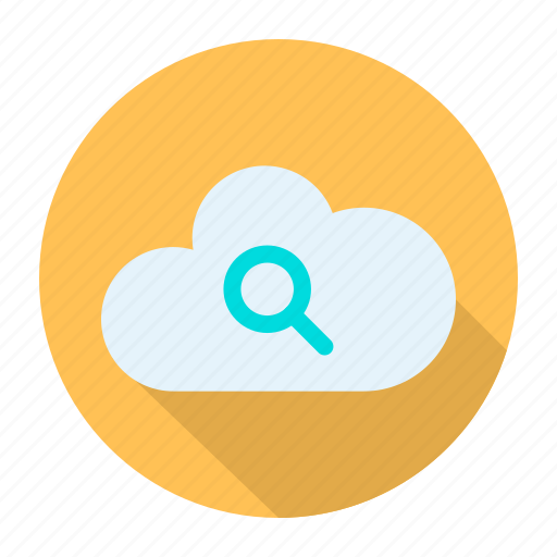 cloud, find, query, search icon