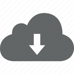 backup, cloud, down, download, storage icon