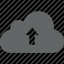 back, backup, cloud, database, up, upload icon
