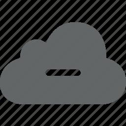 close, cloud, hide, minimize, minus, reduce, remove icon