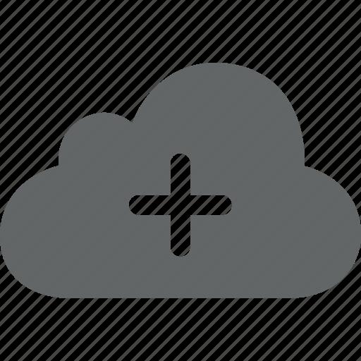 add, cloud, create, cross, internet, new, plus icon