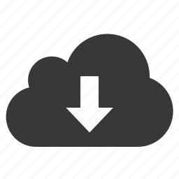 arrow, bottom, cloud, down, download, downward icon