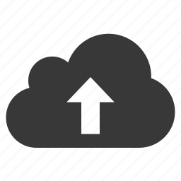arrow, cloud, top, up, upload, upward icon