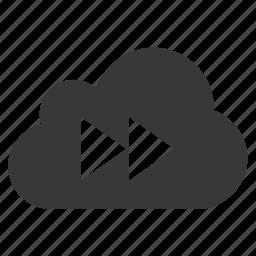 cloud, media, music, next, play forward icon
