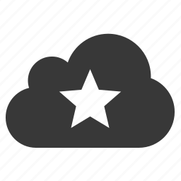 bookmark, cloud, rank, rate, rating, review, star icon