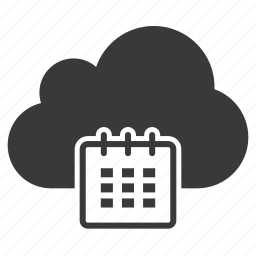 calendar, cloud, date, event, internet, schedule, weather icon
