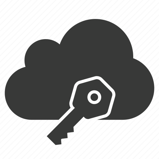 cloud, key, lock, private, protect, safe, security icon