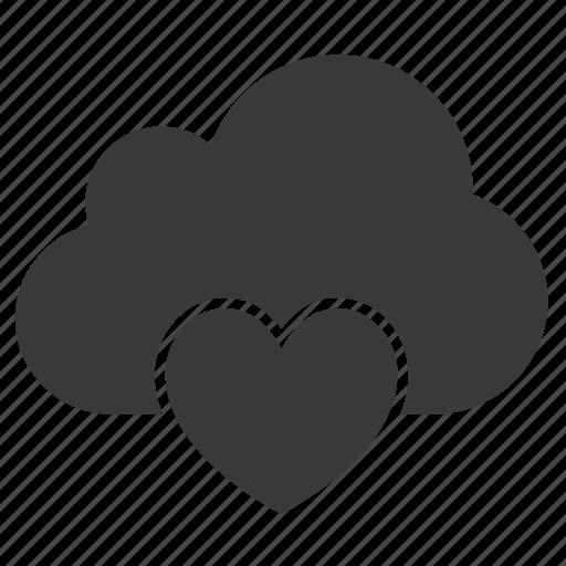 cloud, favorite, health, healthy, heart, like, love icon