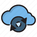 cloud, computer, cycle, data, interface icon