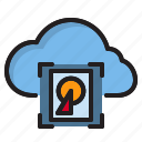 cloud, computer, harddrive, interface icon