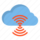 cloud, computer, interface, wiless icon