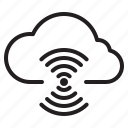 wiless, cloud, interface, computer icon