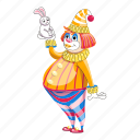 cartoon, clown, hand, party, rabbit, tattoo, woman