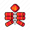 asian, chinese, cny, culture, firecracker, firework icon