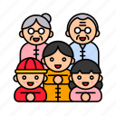 asian, chinese, culture, daughter, family, parent, son icon